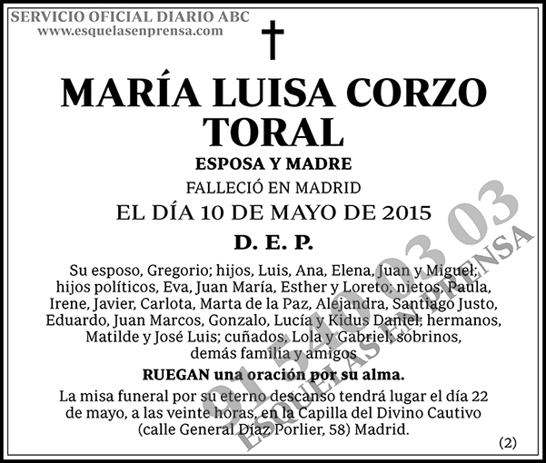 María Luisa Corzo Toral